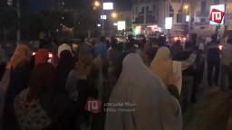 مسيرة ليلية من مسجد الشبان المسلمين الفيوم