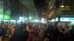 امبابة : حشود  تهنئ الشعب بارتفاع الاسعار