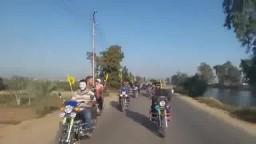 مسيرة موتوسكيلات علي طريق الإسماعيلية
