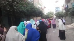 مسيرة طالبات ديرب نجم ضد الانقلاب 22 /7 / 2014