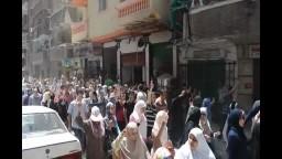 استقبال اسطوري  للمتظاهرين بالعصافرة
