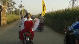 مسيرة بالدراجات بالفشن لرفض الانقلاب