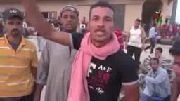 الجاليه المصريه بليبيا جزمه مرسى برقبه السيسى
