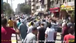 مسيرة لثوار الكيت كات تواجهها قوات الانقلاب