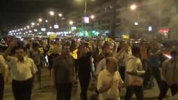 مسيرة مفاجأة لمؤيدي الشرعية بالمقطم 23/8/2014