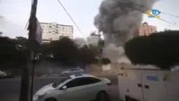 قصف برج الظافر في غزة 15 طابق