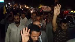 مسيرة ليلية رافضة للإنقلاب بشوارع إبشواى