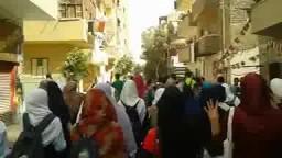 طلاب ثانوي ضد الانقلاب _ بني سويف