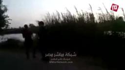 سلسلة بشرية رافضة للانقلاب -طريق السنطة