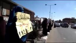 سلسلة بشرية لنساء ضد الانقلاب و مسيرة