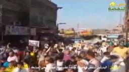 البدرشين تحتشد ضد العسكر- عقب صلاة العيد