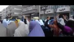 مسيرة نساء ضد الانقلاب بدمنهور