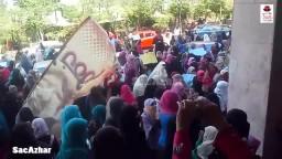 وقفة لبنات الأزهر لرفض فصل الطالبات