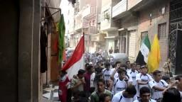 مسيرة طلابية بدارالسلام طامية الفيوم 2014-10-22