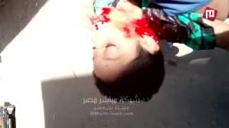 لحظة مقتل طفل برصاص احد البلطجية في المطرية