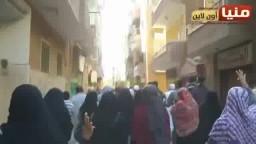 مسيرة حاشدة لأحرار المنيا -أسقطوا النظام