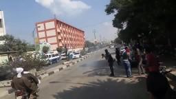 اشتباكات الامن مع طلاب جامعة بنى سويف