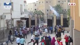 اعتداء الامن علي تظاهرة جامعة الفيوم