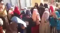 مسيرة لطالبات ازهر الزقازيق