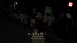 احرار 15 مايو يهتفون ليلا ضد حكم العسكر