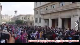 طلاب جامعة القاهرة : الشعب يريد اسقاط النظام