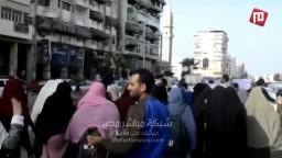 طلاب ضد الانقلاب ببورسعيد رفضا لبراءة مبارك