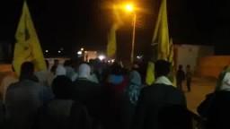مسيرة حاشدة ليلية بقرية قصر رشوان - الفيوم