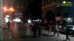 شباب ضد الانقلاب بالمهندسين يشعلون الشوارع هتاف