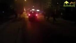 تكسير سيارة شرطة بعد الاعتداء على ثوار اكتوبر
