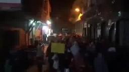 تظاهرة بمدينة بنى سويف رغم الانتشار الامني