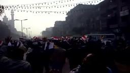 مسيرة صباحية حاشدة بشبرا الخيمة 26- 12- 2014
