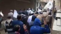 مسيرة ابو زعبل مركز الخانكة الجمعة 9-1-2015
