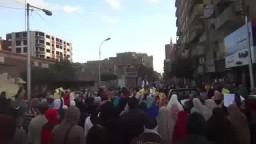 مسيرة بمدينة بنى سويف استعداد لـ 25 يناير 2015