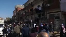مسيرة لأحرار وحرائر الحضرة تتصدى للبلطجية