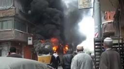 الاسكندرية مجهولون يحرقون ترام بمحطة النزهة