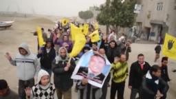 بلطيم ١٠ فبراير مسيرة حاشدة رغم تلقبات الجو