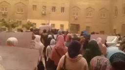 مسيرة هندسة عين شمس في ذكرى تنحي المخلوع