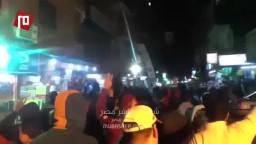 الهتافات تشعل مسيرة الزاوية الحمراء
