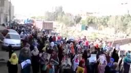 قرية ناهيا تخرج عن بكرة أبيها في مسيرة ثورية