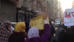 حركة حورية المنصورة في مسيرة ضد العسكر