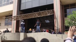 مسيرة طلاب القاهرة رفضا لاحكام الاعدام