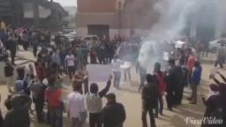 مسيرة طلاب ضد الانقلاب بجامعة عين شمس