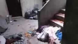 آثار الرصاص والدم في بيت سيد الشعراوي