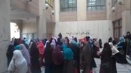 مسيرة حاشدة لطالبات دراسات المنصورة
