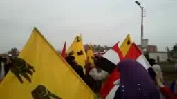 مسيرة صباحية بالخمسين بمنوف ضد حكم السيسى