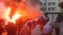 مسيرة بمنطقة الهدي والنور بالمنصورة 9 / 4 / 2015