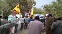 مسيرة ضد العسكر أمام قرية طملاى بمنوف