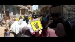 مسيرة حاشدة لأهالى قرية الأعلام بالفيوم