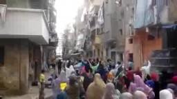 مسيرة الورديان اعتراضا على احكام الاعدام