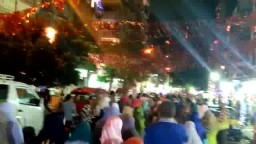 مسيرة  حاشدة  بالورديان في أول ليلة لرمضان